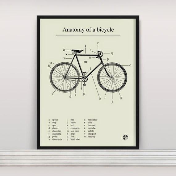 la bici colgada en casa