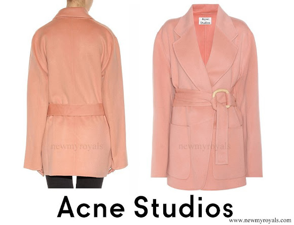 Crown Princess Victoria wore ACNE STUDIOS Lilo wool and cashmere coat
