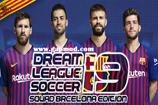 DLS 19 Mod Barca Full Team Edition