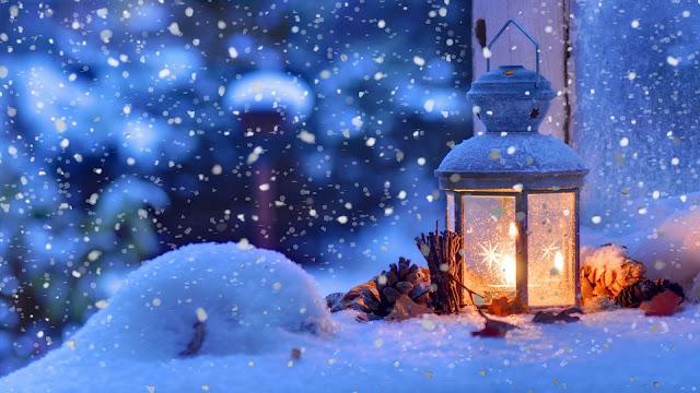 lanterna, natale, neve,