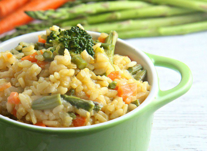 EASY VEGETABLE RISOTTO #Vegetarian #eathealthy