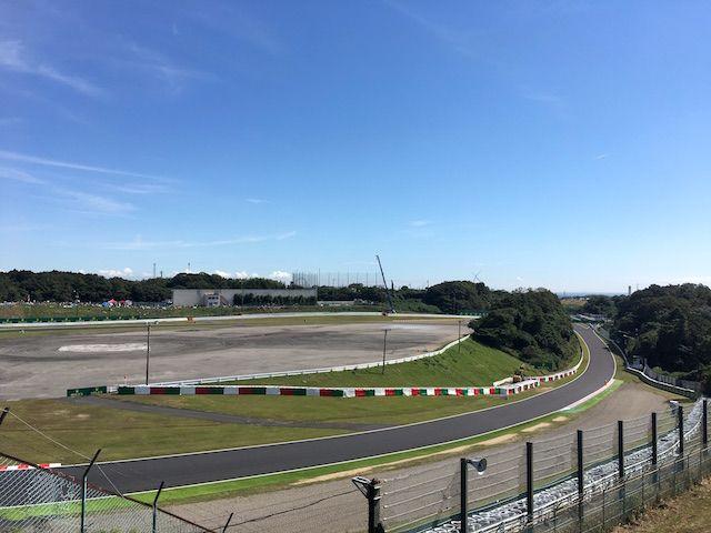 F1日本グランプリ2017 Nエリアから西ストレートを望む