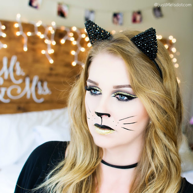 justmelsdotcom Glamorous Kitty Halloween Makeup Look