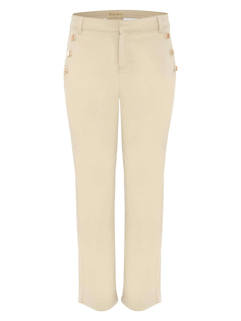 Phase eight madi button soft crop trousers