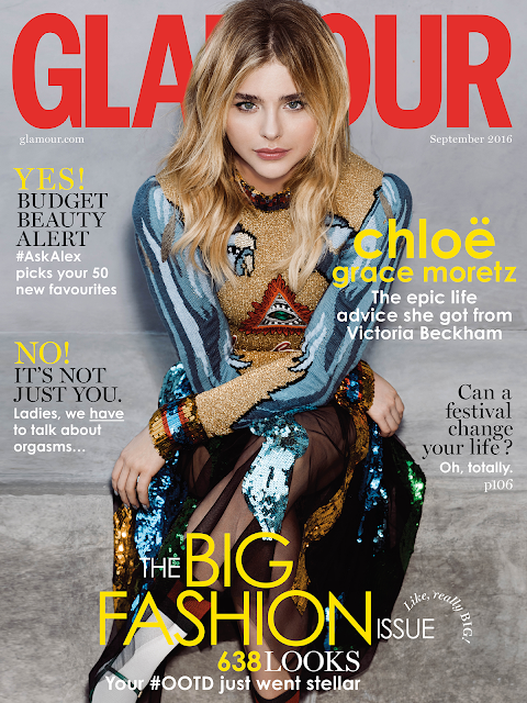 Actress, Model, @ Chloe Moretz - Glamour UK September 2016