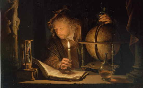 """Astronomer by Candlelight"" by Gerrit Dou (1665)"