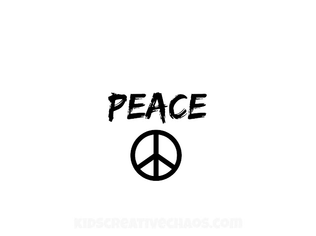 Activities for Martin Luther King Day: Peace Sign Printable