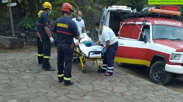 Los Bomberos rescatan a una mujer en San Andrés y Sauces