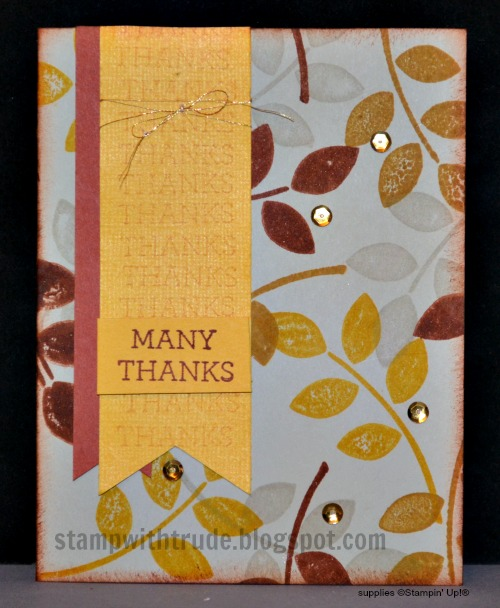 Crazy About You, Fall, Autumn, Thanks, Stampin' Up!, Stamp with Trude, Tuesday Tutorial