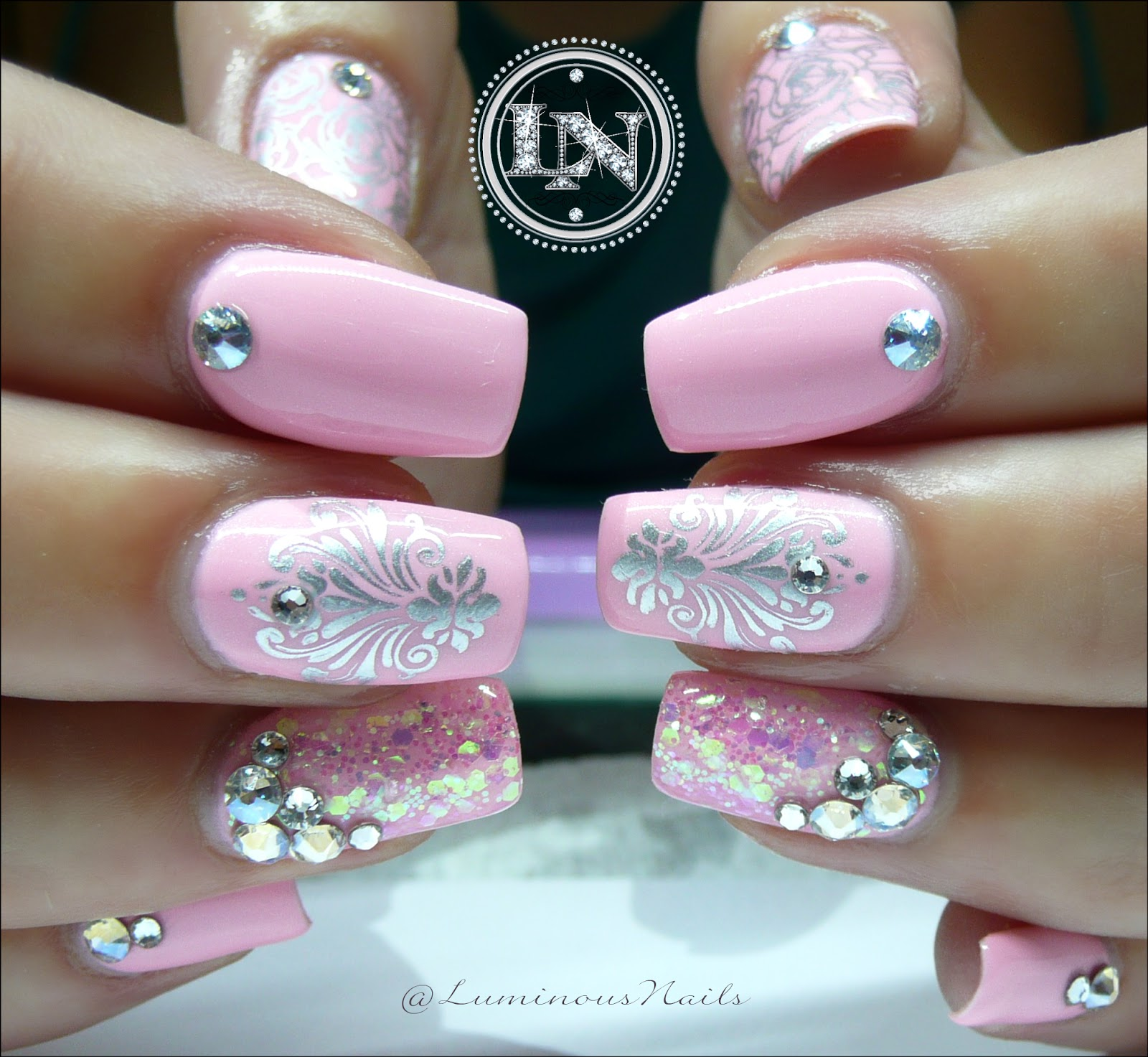 Luminous Nails: Little Baby Pink Cuties... Pink Gel Nails.