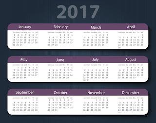 2017カレンダー無料テンプレート147