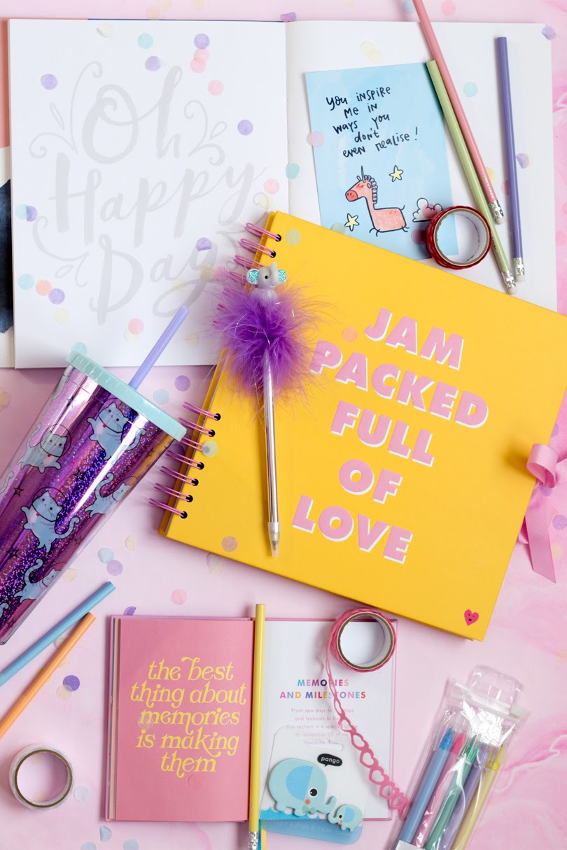 paperchase journal haul flatlay
