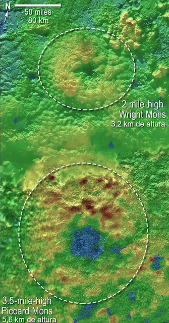 vulcões em Plutão