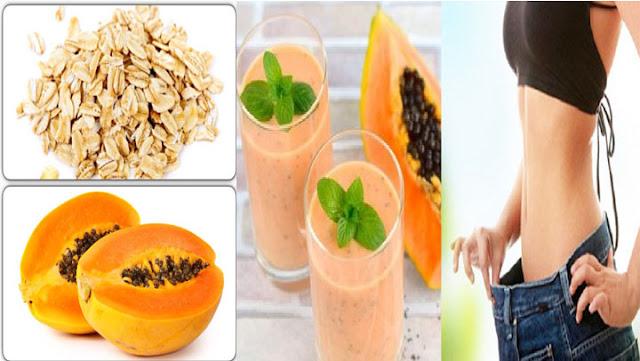 Desinflama tu vientre y limpia el colon con este batido de papaya y avena.