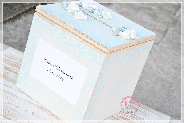 ręcznie robione, pudełko na koperty, scrapbooking, handmade