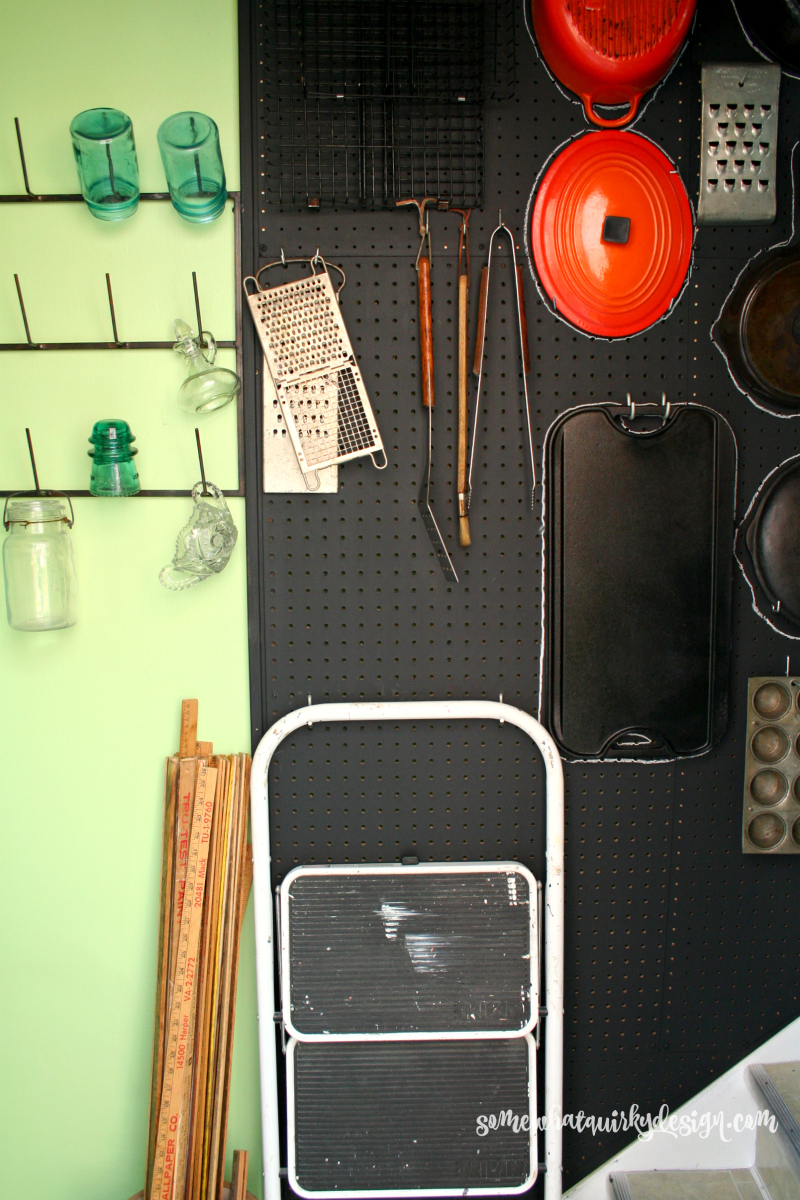 Kitchen Pegboard Somewhat Quirky How To Build Peg Board Storage For Your Kitchen