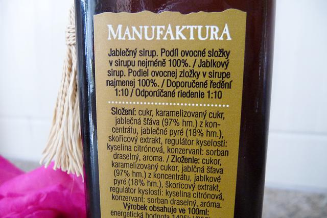 Manufaktura - Jablečný sirup s karamelem a skořicí