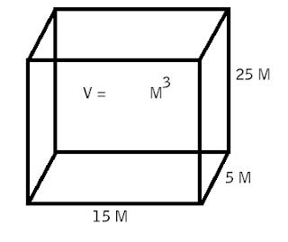 volume balok dengan 15x5x25