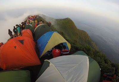 tenda ramai di puncak