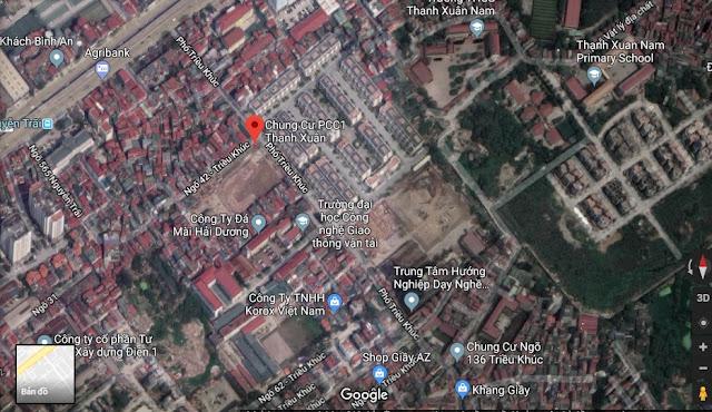 Vị trí dự án PCC1 44 Triều Khúc - Thanh Xuân