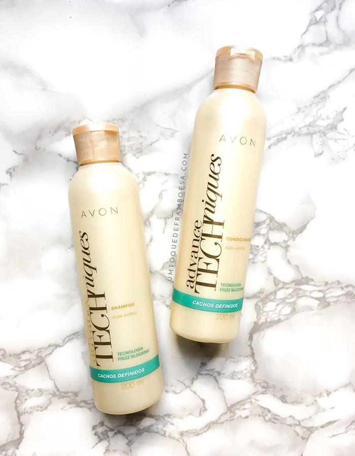 Resenha do shampoo e condicionador Avon Advance Techniques Cachos Definidos