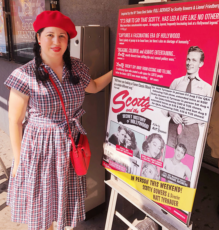 A Vintage Nerd, Vintage Blog, Scotty and the Secret History of Hollywood, Movie Blog, Sixties Style, Vintage Fashion, New York Blogger, Curvy Vintage, Bernie Dexter Plaid Dress, Scotty Bowers