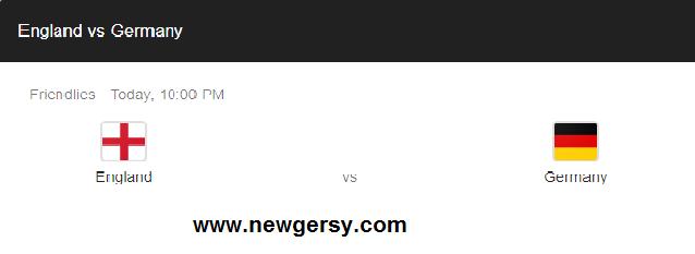 new gersy/  England vs Germany: International friendly