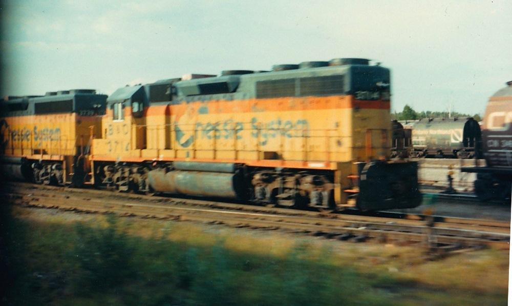 Trackside Treasure Montreal North Bay September 1985