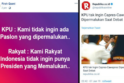 Telak Balas KPU!!! Netizen: Kami Rakyat Indonesia tidak ingin punya Presiden yang Memalukan..