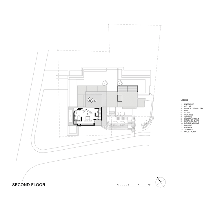 Second floor plan of Beautiful Plett 6541+2 Home by SAOTA