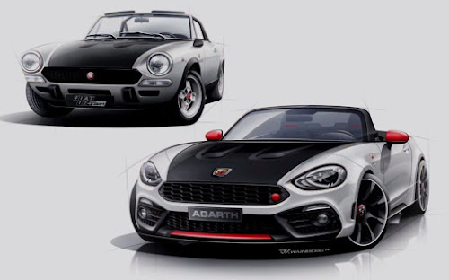Abarth 124 Spider Sketch