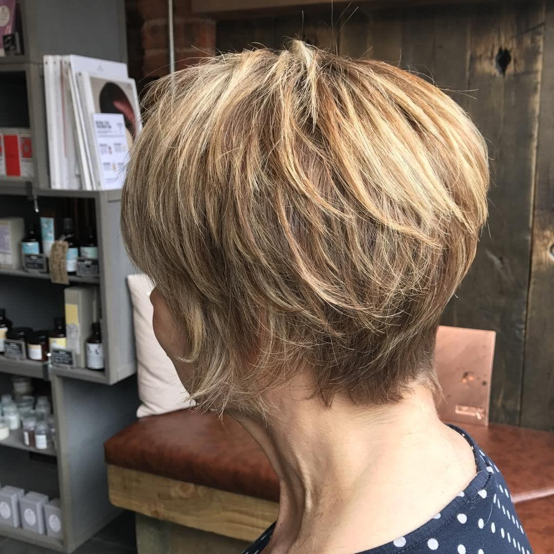 Image showing the back view of the new hairstyle of Gail Hanlon from Is This Mutton?