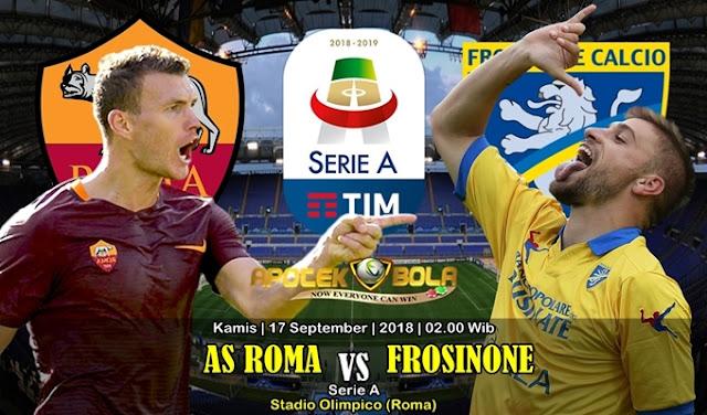Prediksi AS Roma vs Frosinone 27 September 2018