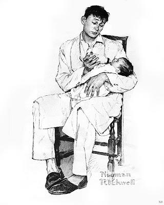 Norman Rockwell, 2 o'clock feeding 1957