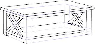 Cara Mudah Menggambar Meja Kopi