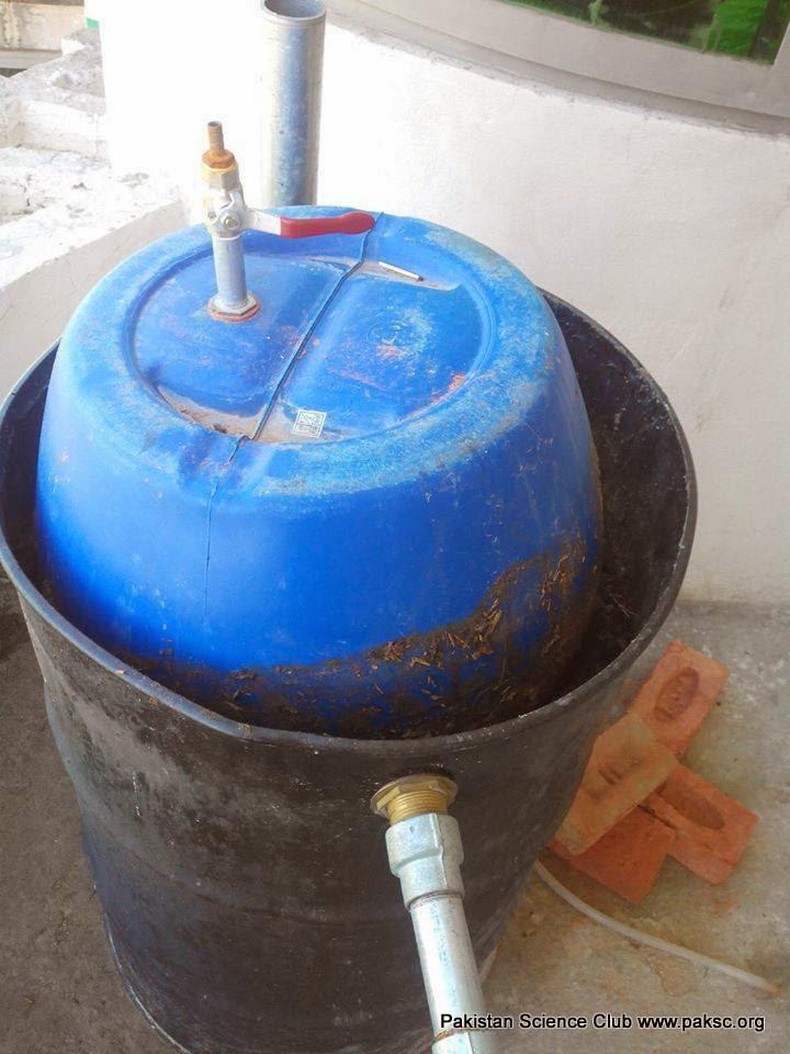 Homemade biogas digester photo