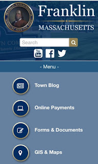 the new Town of Franklin website works on mobile phones