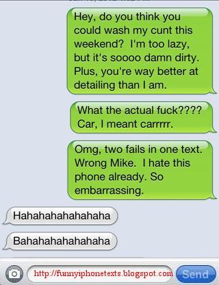 Scrub It Clean | Funny iPhone Texts - Funny iPhone Fails And