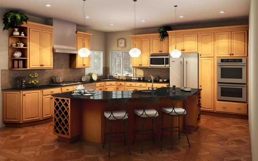 kitchen color schemes with golden oak cabinets best kitchen ideas