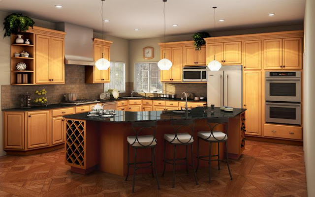 KITCHEN COLOR Schemes with Golden Oak Cabinets | Home ...