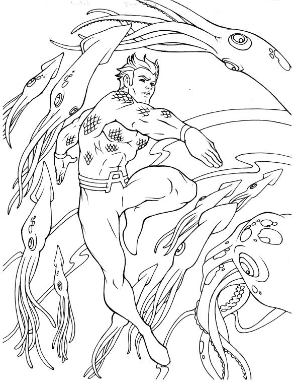 aquaman coloring pages # 72