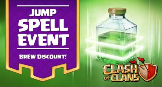 Jump Spell Event Clash of Clans sedang berlansung