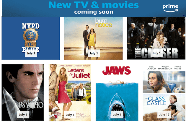 PRIME VIDEO - Here's Everything New in July