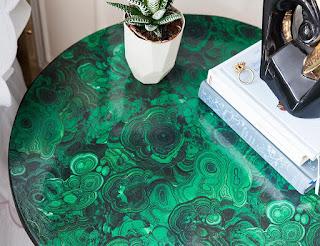 rinnovo di un tavolino con i tessuti