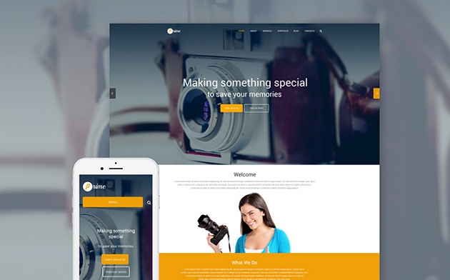 Eye-catching and Creative Photographer Portfolio WordPress Theme