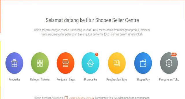 cara daftar toko di shopee