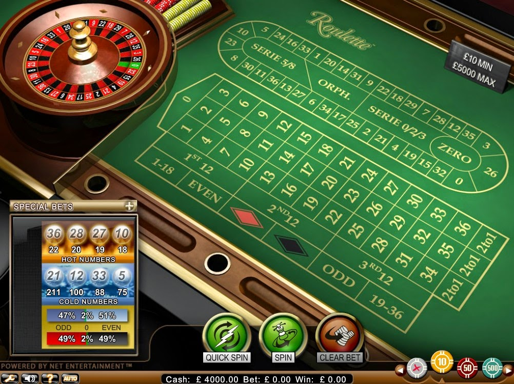 Betsson Roulette Screen