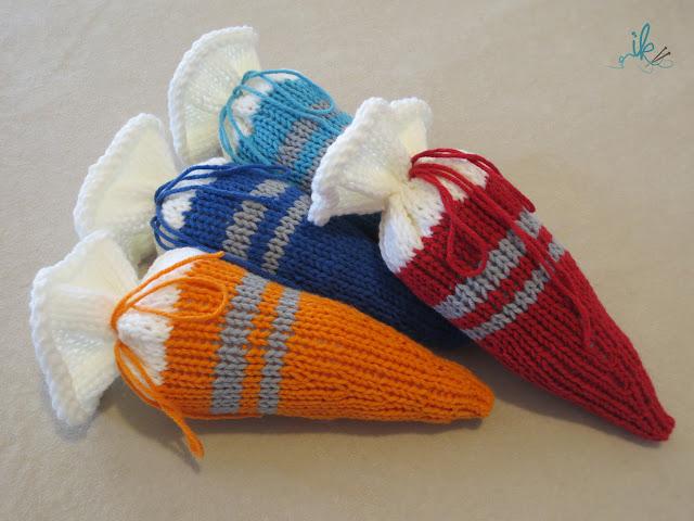 Schultüte Zuckertüte für die Einschulung stricken