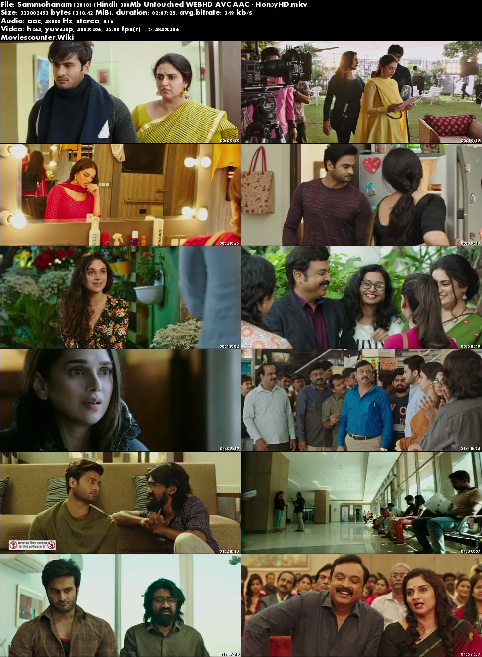 Screen Shots Sammohanam 2018 Hindi Dubbed HD 300MB