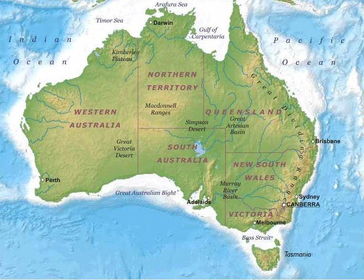 Cartina Australia E Nuova Zelanda.Il Gusto Della Natura Climi Piante E Paesaggi Di Australia